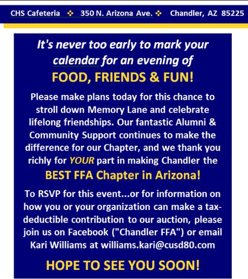 FFA Reunion Information