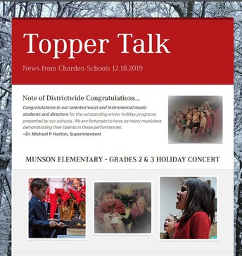 Missed an Issue of Topper Talk? Click here for the Communications webpage.