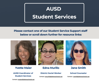 "AUSD Student Services ""Community Resource Notice"""