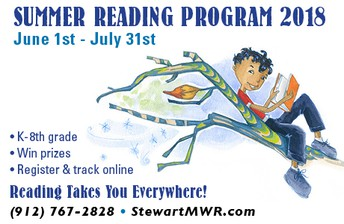 SUMMER READING PROGRAM 2018 FROM 1 JUNE TO 31 JULY AT FT. STEWART