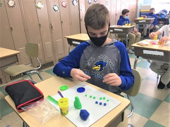 Fractions with Play-Doh
