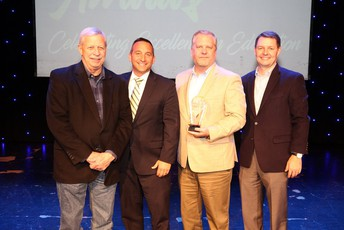 Members of West Alabama Works and the Chamber of Commerce of West Alabama accept the Outstanding Community Spirit Award