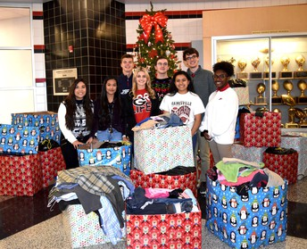 GHS StuCo collects clothing donations for the State School