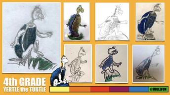 Yertle the Turtle Drawing