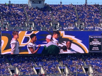 Raiders on the Jumbotron!