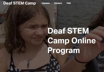 Deaf STEM Camp Online Program