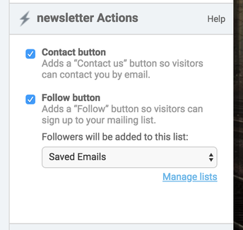 2. Select or Deselect your Newsletter Actions