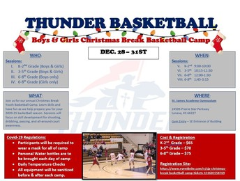 SJA Basketball Camps Dec. 28-31