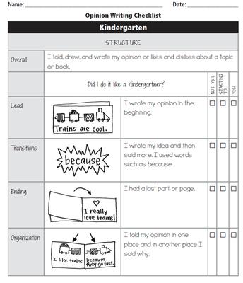 Writing Unit 6- Writing Checklist