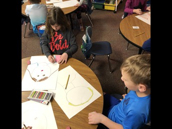 Working on Our Self-Portraits