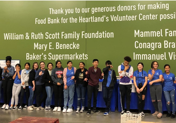 NJHS Day of Service at Food Bank