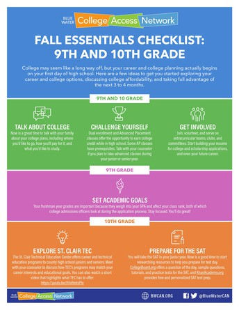 Fall Essentials Checklist: A to-do list for 9th & 10th grade students