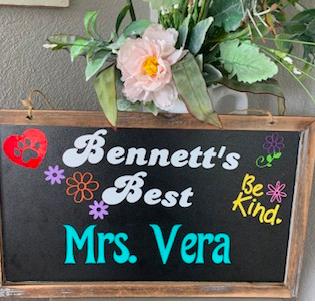 Bennett's Best Recipient     Natalie Vera