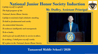Tamanend Honors National Junior Honor Society Inductees in Virtual Ceremony