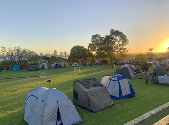 Rise and Shine at Campout