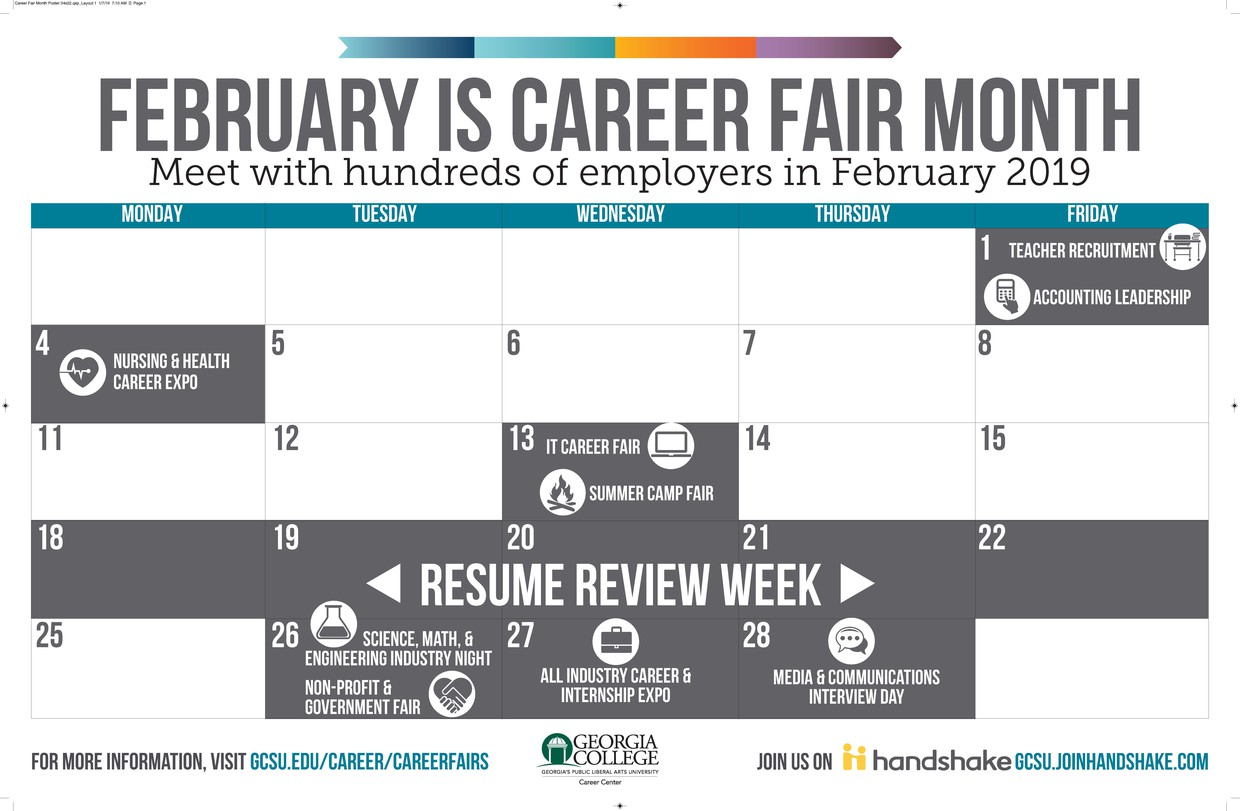 February is Career Fair Month