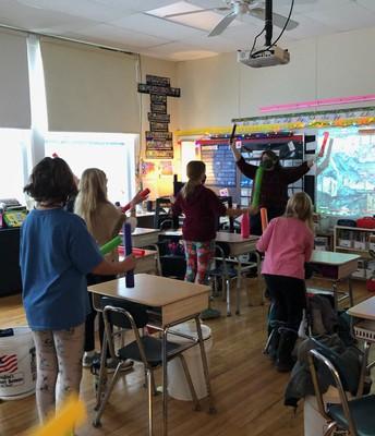 Ms. Broughton Teaches Rhythm at OVS
