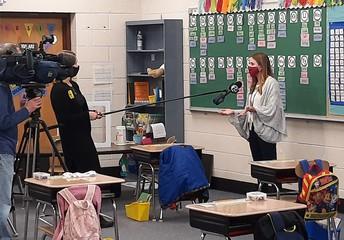 ABC6 Trish Hartman Interviews Ms. Rossi's 1st Grade Teacher