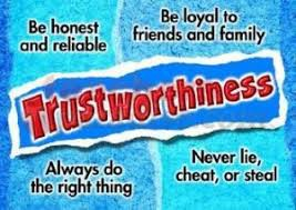 Character Counts Trait of the Month:  Trustworthiness