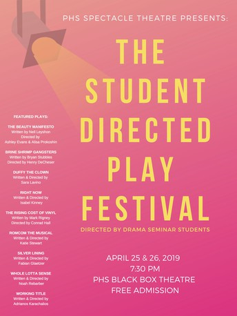 PHS Student-Directed Plays