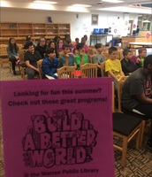 Students learn about Warren Public Library