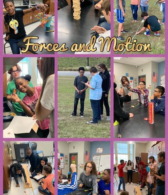 8th Grade Students Finished the Forces and Motion Unit