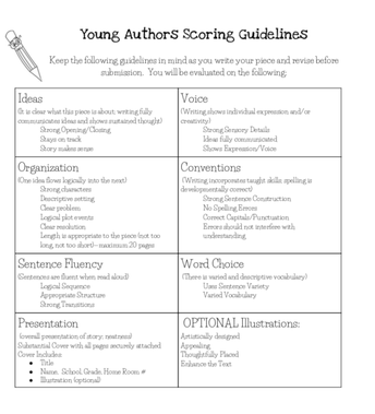 Young Author Guidelines