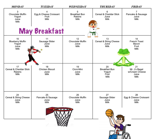 Picture of May Breakfast Menu