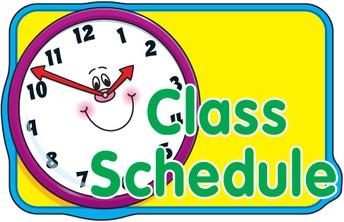 2021-2022 5th Grade Schedule