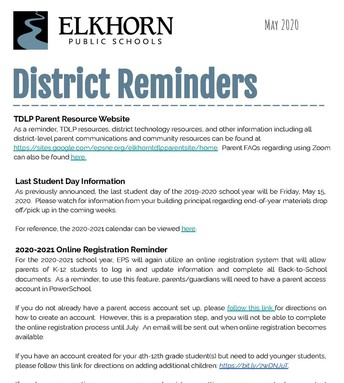 District Tech Reminders