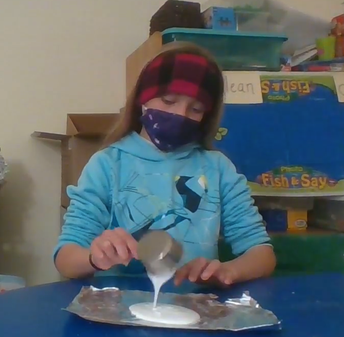 CES student's how-to video for schoolwide slime making