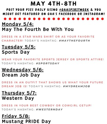 Virtual Spirit Week May 4 - 8