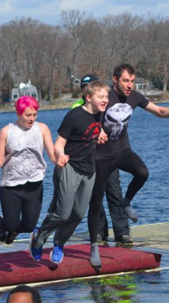 Brrrrrrr! Hundreds take bitterly cold swim at 2020 Portage Lakes Polar Bear Jump: