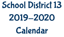 2019-2020 District 13 Calendar