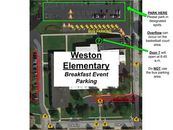 Parking for Breakfast Events