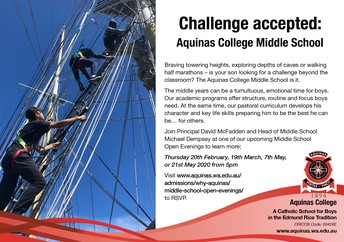 Aquinas College Middle School open day
