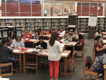 Marta Salazar works with mentor teachers