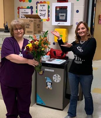 Nurse Maria Hicks and Principal Kim Cerasoli