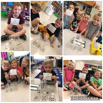 Kindergarten is hands on in math!