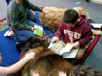 Arlo and Griffy Enjoying a Read Aloud