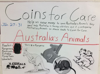 Picture of Coins for Care flyer