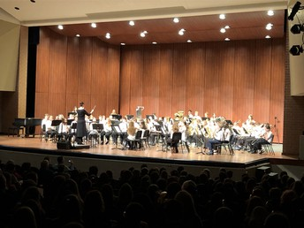 UHS concert bands delight audience in their inaugural performance with the PAC Sound Cloud!