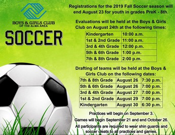 Soccer Sign Ups and Evaluations: