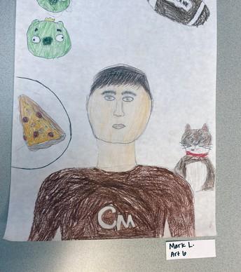 6th Grade - Mark's Self Portrait