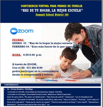 Conferencia Virtual Para Padres de Familia