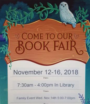 Book Fair Nov. 12-16, 2018