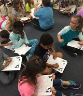 Pennington's Class working hard.