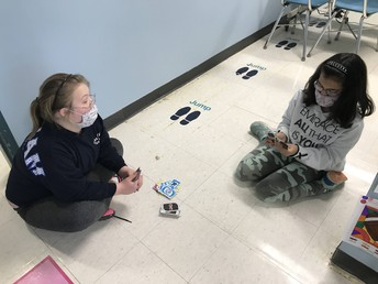 Students taking a break