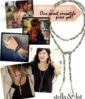 SOLD Zoe Lariat silver £45 RRP £85