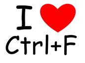 Use Ctrl + F